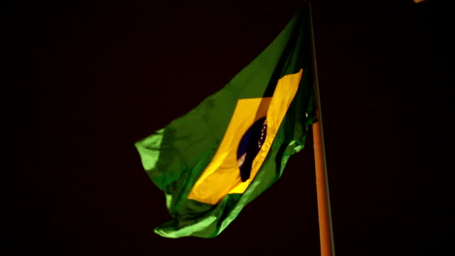 Brazil flag waving in the wind video