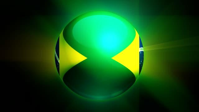 brazil globe - brasilien flagga bildbanksvideor och videomaterial från bakom kulisserna