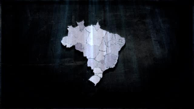 vídeos de stock, filmes e b-roll de brasil mapa futuro - brazil map