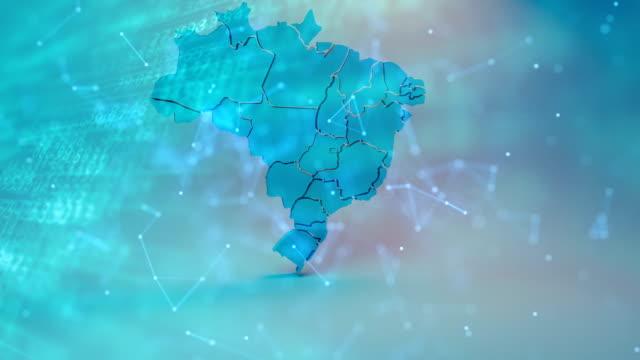 vídeos de stock, filmes e b-roll de mapa brasil - brazil map