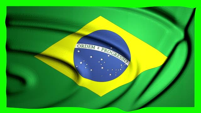 brasilien viftande flagga grön skärm brasiliansk animation - brasilien flagga bildbanksvideor och videomaterial från bakom kulisserna