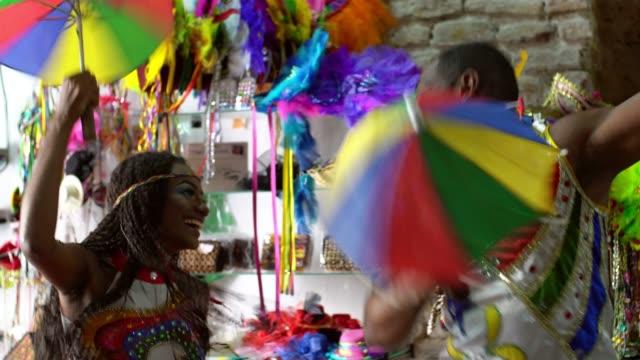 Brazilian Carnival Dancers at Craft Shop