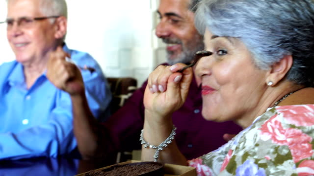 Brazilian Family Eating Chocolate at Easter Celebration video