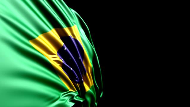 brazilian flag hd, pal, ntsc, alpha included, looping - brasilien flagga bildbanksvideor och videomaterial från bakom kulisserna