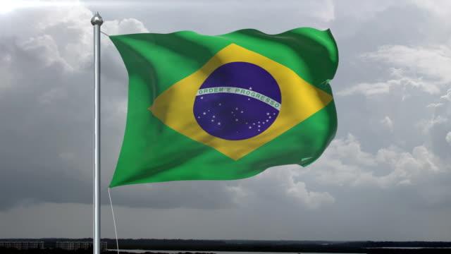 Brazilian Flag HD, PAL, NTSC, alpha included, looping video