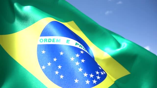 Bandeira Brasileira de detalhes - vídeo