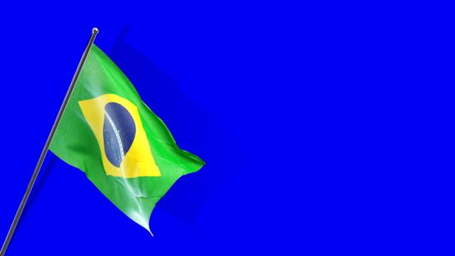 brasileiro bandeira Rising - vídeo