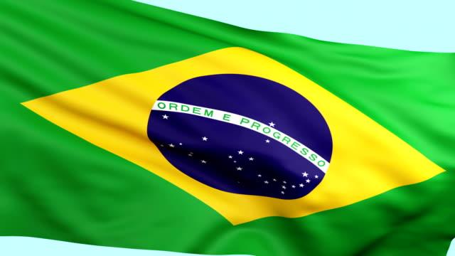 Brazilian flag waving loopable video