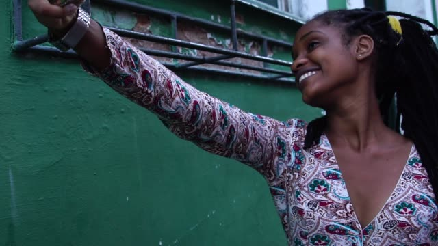 Brazilian Girl taking a selfie in Pelourinho, Bahia, Brazil video