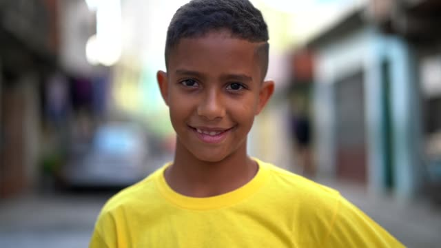 Brazilian Kid Portrait at Favela