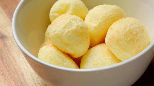 Brazilian snack cheese bread (pao de queijo) in Colombia (pan de bono)
