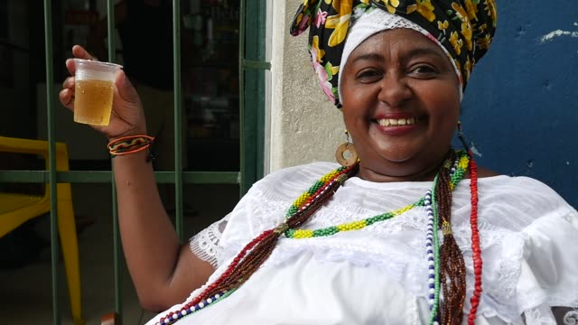 Brazilian woman of African descent, Bahia, Brazil video