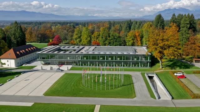 AERIAL Brdo congress center and the beautiful park surrounding it