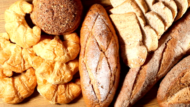 bread and wheat - cucina francese video stock e b–roll