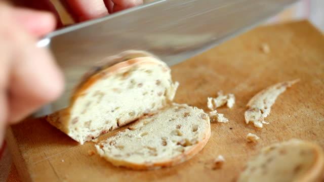 パンカティング - 食パン点の映像素材/bロール