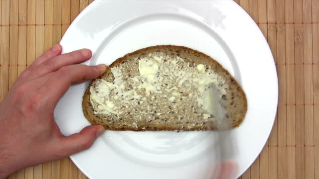 Bread with Butter and Jam - Time Lapse video