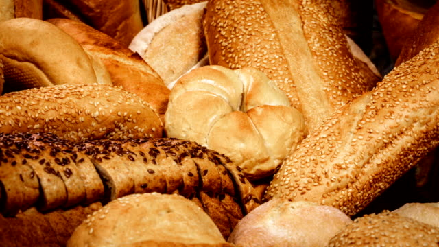 breads and baked goods - pane forno video stock e b–roll