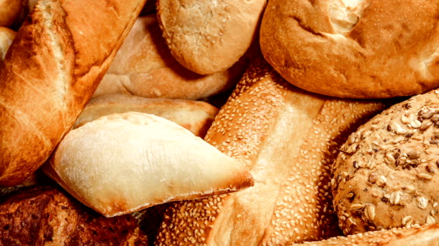Breads and baked goods Breads and baked goods close-up bread stock videos & royalty-free footage