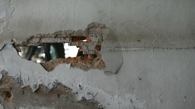 Break brick wall by drill video