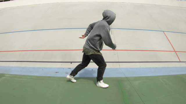 Breakdancer man dancing modern contemporary dance video