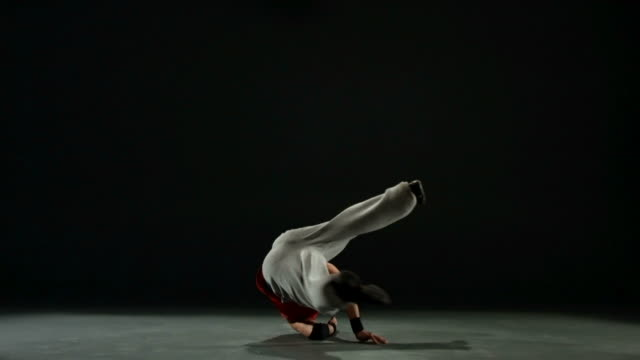 Breakdancing, slow motion Break dancer, slow motion. Shot with a slow motion camera at 300 frames per second. hip hop stock videos & royalty-free footage