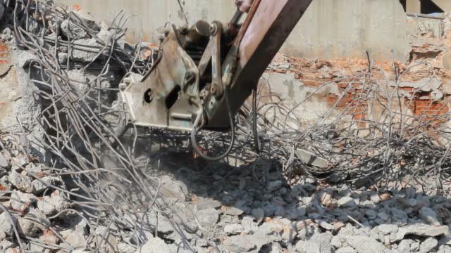 Breaking concrete. video