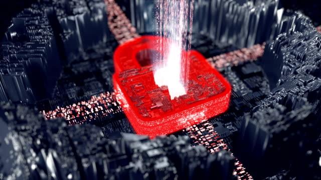 Breaking digital security. Alert metaphor