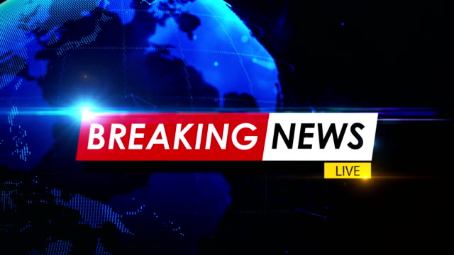 Breaking News Concept Over Spinning Globe In 4K Resolution Breaking news concept over spinning globe. 4K resolution. breaking stock videos & royalty-free footage