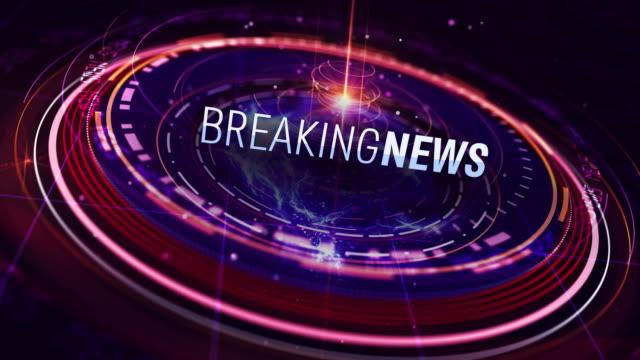 Breaking News intro in 4K