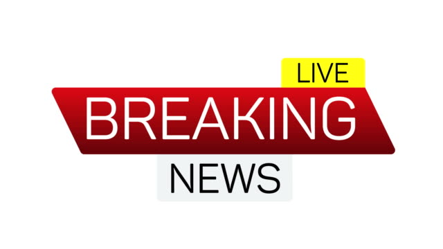 breaking news live motion banner on white. business technology news background splash screen. - логотип стоковые видео и кадры b-roll