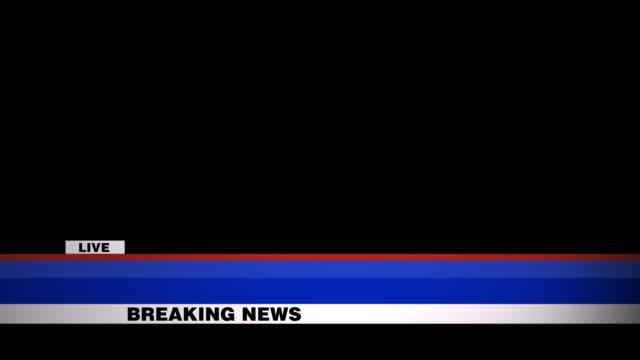 vidéos et rushes de breaking news lower third inclut alpha channel - live - interview