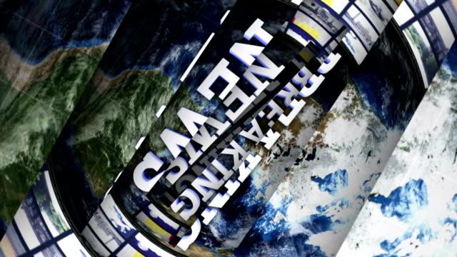 stockvideo's en b-roll-footage met breaking news open lines bars, with alpha channel - magazine mockup