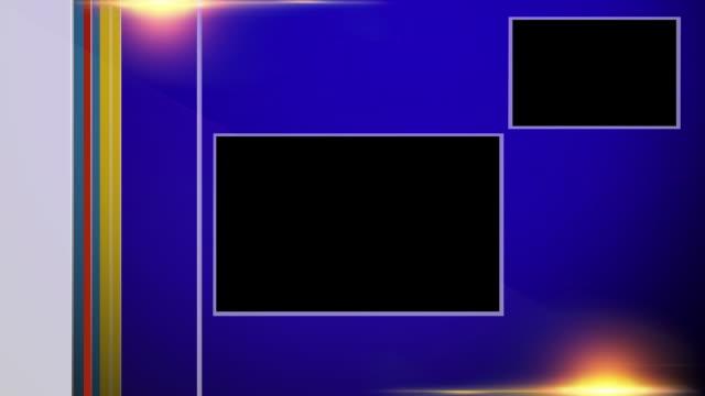 vidéos et rushes de breaking news remote dual video box - bleu - interview