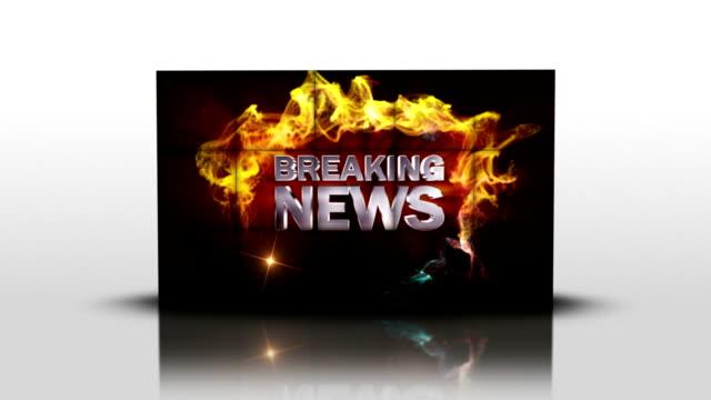 Breaking News Text in Falling Cubes, Loop video