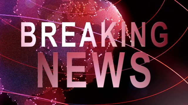breaking news - media filmów i materiałów b-roll