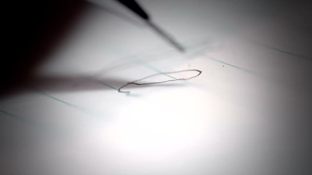 Breaking the propelling pencil lead with a Shaky Hand video