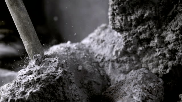 Breaking Up Rock With A Jackhammer (Super Slow Motion)