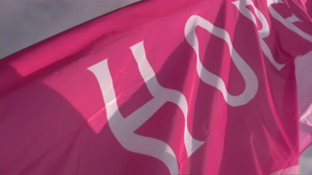 """rak piersi """"3-day wyścig po zdrowie - breast cancer awareness filmów i materiałów b-roll"""