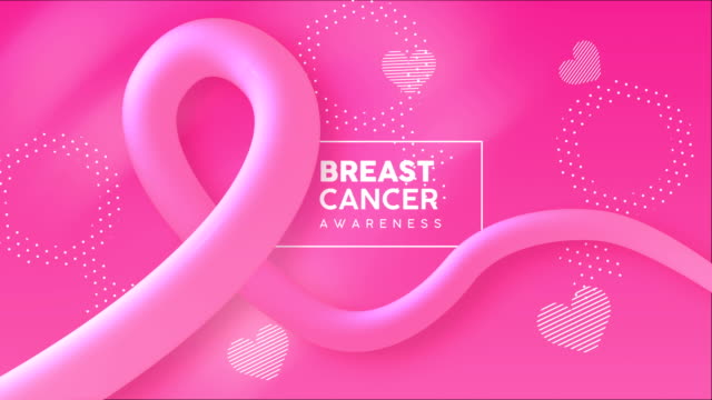 breast cancer awareness 3d pink ribbon animation - breast cancer awareness filmów i materiałów b-roll