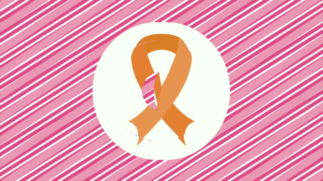 乳腺癌意識設計 - breast cancer awareness 個影片檔及 b 捲影像
