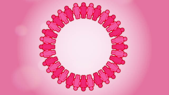 유방암 인식 디자인식 - breast cancer awareness 스톡 비디오 및 b-롤 화면