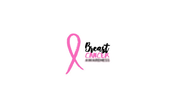 breast cancer awareness help quote 2d animation - breast cancer awareness filmów i materiałów b-roll