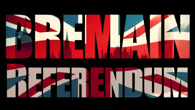 Bremain, Referendum title sequence with animated Union Jack flag and the Houses Of Parliament