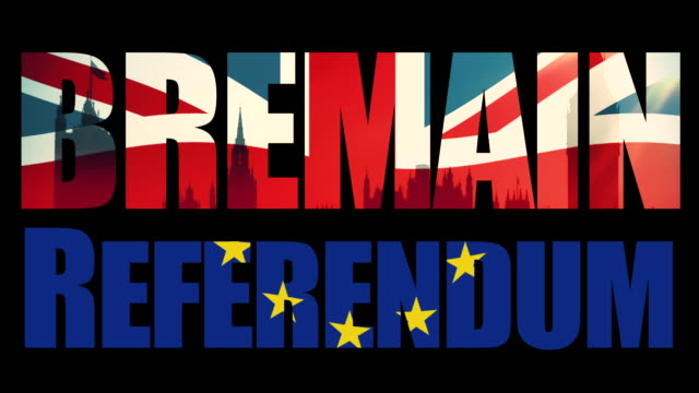 Bremain, Referendum title sequence with animated Union Jack flag and the European Union flag joined in half.