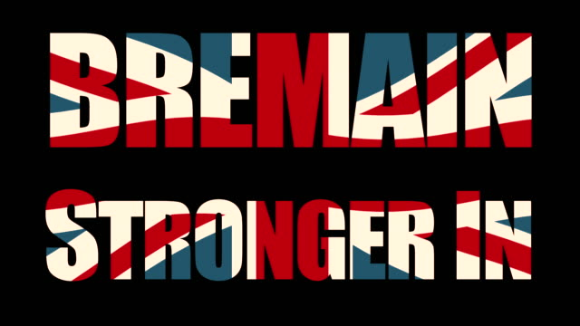 Bremain, Stronger In title sequence with animated Union Jack flag and the Houses Of Parliament