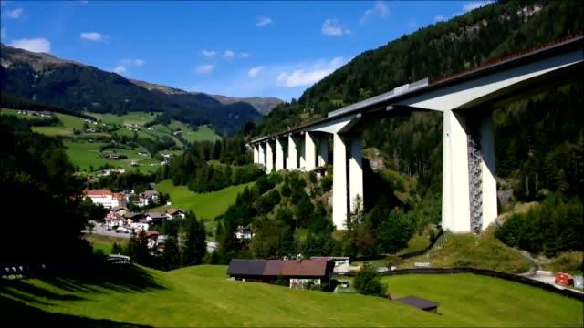 brennerautobahn - 티롤 주 스톡 비디오 및 b-롤 화면