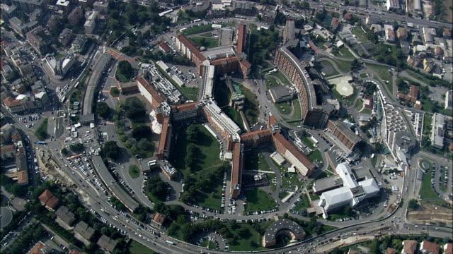 brescia-vista aerea-lombardia, provincia di brescia, concesio, italia - lombardia video stock e b–roll