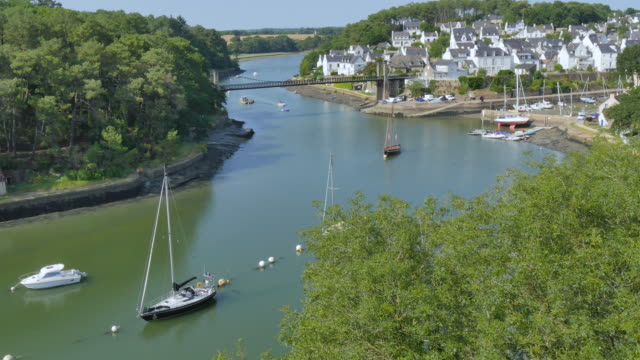 Breton village, Le Bono, brittany, France video