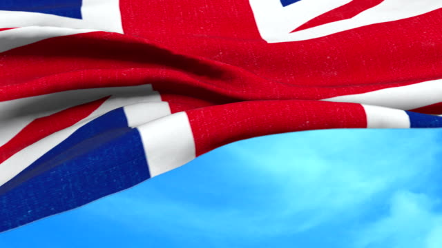 brexit, closeup of waving flag of union jack, uk great britain england symbol, named united kingdom flag video