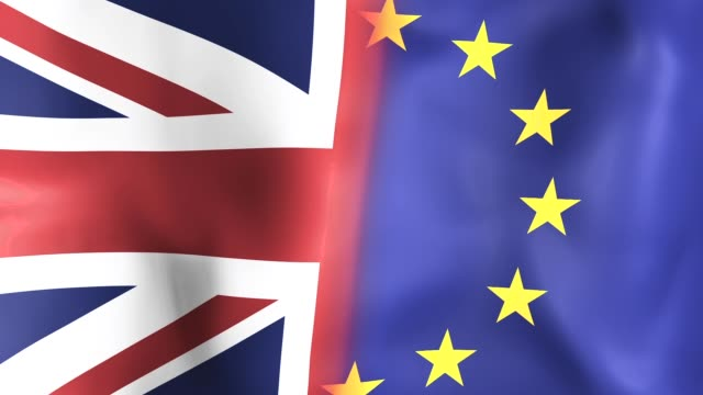 Brexit flag waving in the wind video